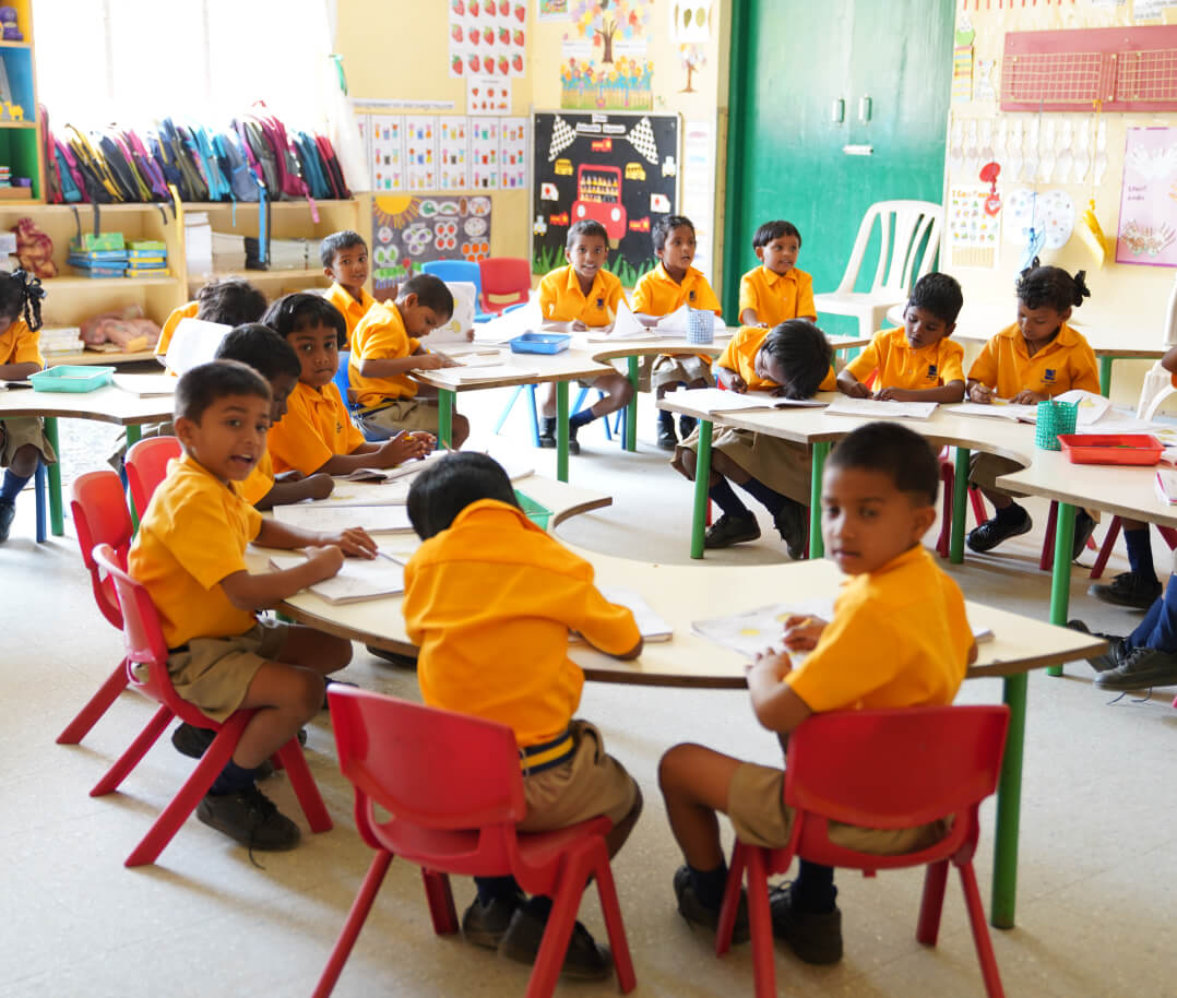 The school offers K-12 education as well as two meals a day