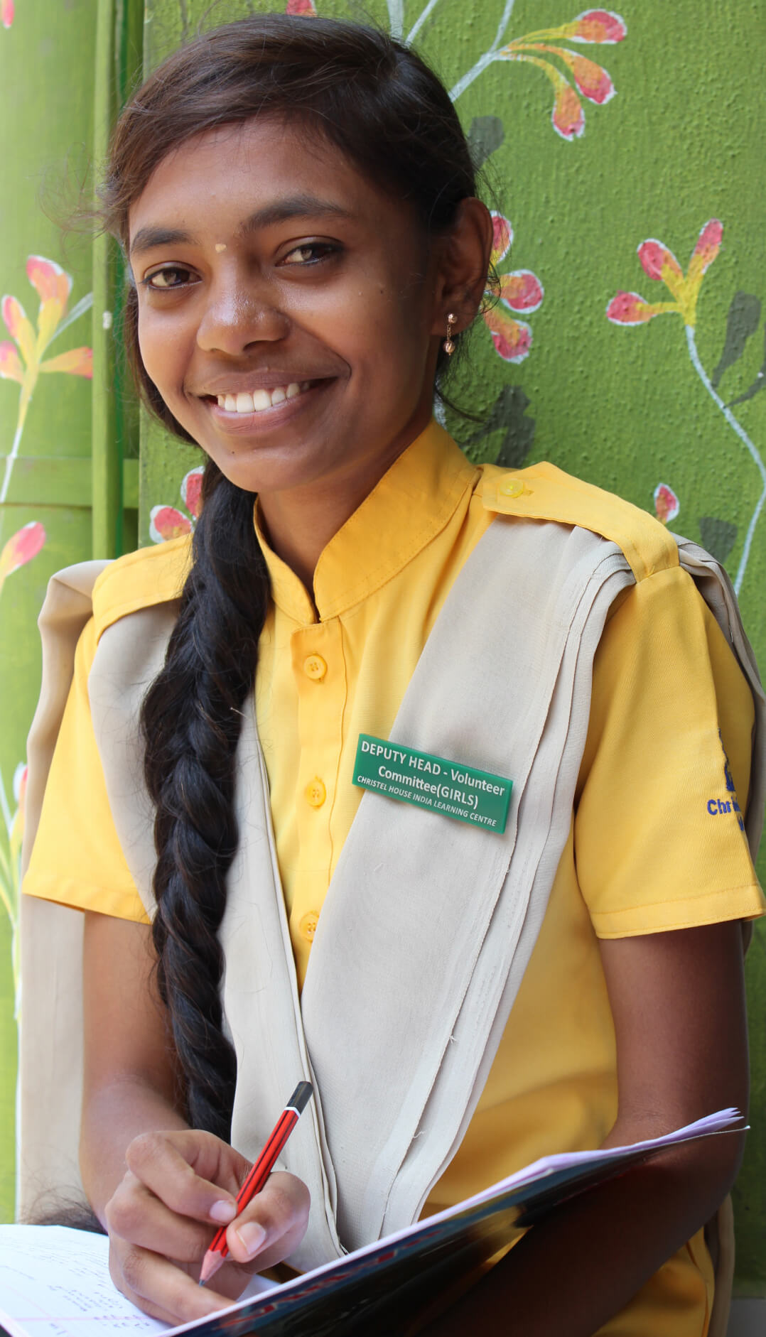 Soumya smiles happily after winning the election